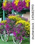 European Summer Flower Wagon...