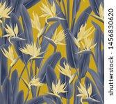bird of paradise tropical... | Shutterstock .eps vector #1456830620