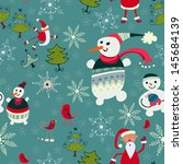 christmas retro texture with... | Shutterstock .eps vector #145684139