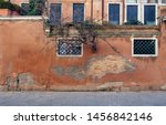 Terra Cotta Color Old Wall Wit...