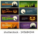 Happy Halloween Banner. Set Of...