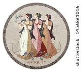 minoan civilization. ancient... | Shutterstock .eps vector #1456861016