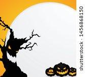 halloween background decorated... | Shutterstock .eps vector #1456868150