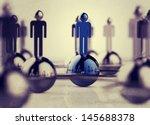 3d stainless human social... | Shutterstock . vector #145688378