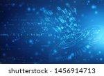 digital abstract technology... | Shutterstock . vector #1456914713