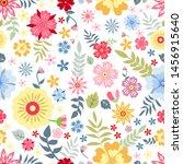 seamless pattern flower design... | Shutterstock .eps vector #1456915640