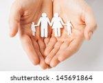 man hands showing family of... | Shutterstock . vector #145691864