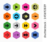 arrow sign icon set 02. black...