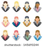 set of businesswoman icon in... | Shutterstock .eps vector #145693244