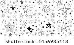 set of hand drawn stars. doodle ...   Shutterstock .eps vector #1456935113