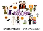 set of funny couples boys and... | Shutterstock .eps vector #1456937330