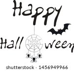 happy halloween. a text adorned ... | Shutterstock .eps vector #1456949966
