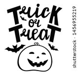 trick or treat text banner.... | Shutterstock .eps vector #1456955219