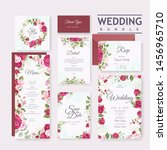 beautiful wedding invitation... | Shutterstock .eps vector #1456965710