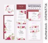 beautiful wedding invitation... | Shutterstock .eps vector #1456965716