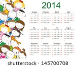 simple and colorful calendar on ... | Shutterstock .eps vector #145700708