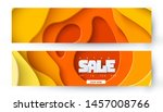set of two autumn sale yellow... | Shutterstock .eps vector #1457008766