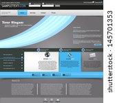 blue website template | Shutterstock .eps vector #145701353