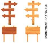 wooden signboard | Shutterstock .eps vector #145702418