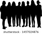 people together black color... | Shutterstock .eps vector #1457024876
