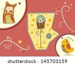 illustration of couple birds...   Shutterstock .eps vector #145703159