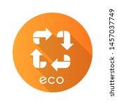 eco label yellow flat design... | Shutterstock .eps vector #1457037749