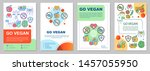 go vegan brochure template... | Shutterstock .eps vector #1457055950