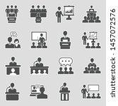 speech icons. sticker design.... | Shutterstock .eps vector #1457072576