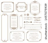 vector set of vintage elements... | Shutterstock .eps vector #1457075939