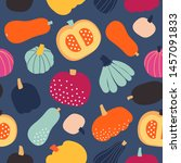 seamless pattern with colorful... | Shutterstock .eps vector #1457091833