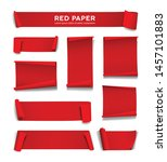 red paper roll vector... | Shutterstock .eps vector #1457101883