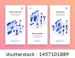 vector web banners templates... | Shutterstock .eps vector #1457101889