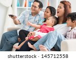 image of a modern family... | Shutterstock . vector #145712558
