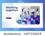 business teamwork vector... | Shutterstock .eps vector #1457133419