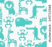 african animal seamless... | Shutterstock .eps vector #145713368