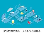isometric vector of virtual... | Shutterstock .eps vector #1457148866