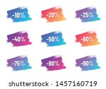 discount white letterings with... | Shutterstock .eps vector #1457160719