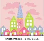 vector collection of buildings... | Shutterstock .eps vector #14571616