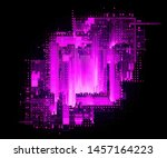 led light. luma effect. future... | Shutterstock . vector #1457164223