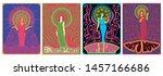 psychedelic art women posters... | Shutterstock .eps vector #1457166686