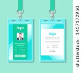 abstract id card template with... | Shutterstock .eps vector #1457172950
