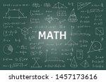 doodle math blackboard.... | Shutterstock .eps vector #1457173616