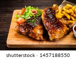 Roasted Chicken Leg With Frenc...