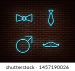 neon mens signs vector isolated ... | Shutterstock .eps vector #1457190026