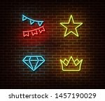neon celebration signs vector...   Shutterstock .eps vector #1457190029