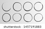hand drawn grunge circles... | Shutterstock .eps vector #1457191883