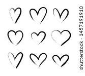 heart hand drawn grunge icons... | Shutterstock .eps vector #1457191910