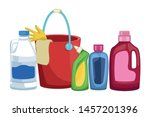 laundry wash and cleaning...   Shutterstock .eps vector #1457201396
