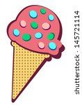 ice cream pink  | Shutterstock .eps vector #145721114