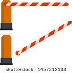 white red barrier gate....   Shutterstock .eps vector #1457212133